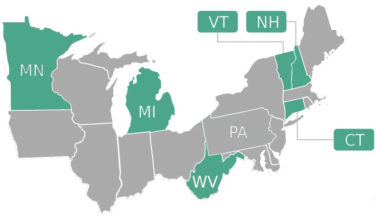 In 2015, WVU Extension provided First Impressions training to Extension staff in five other states, with funding from NERCRD. Many of the resources here are outcomes of that initiative. Image: adapted from Hedgefighter via Wikimedia Commons