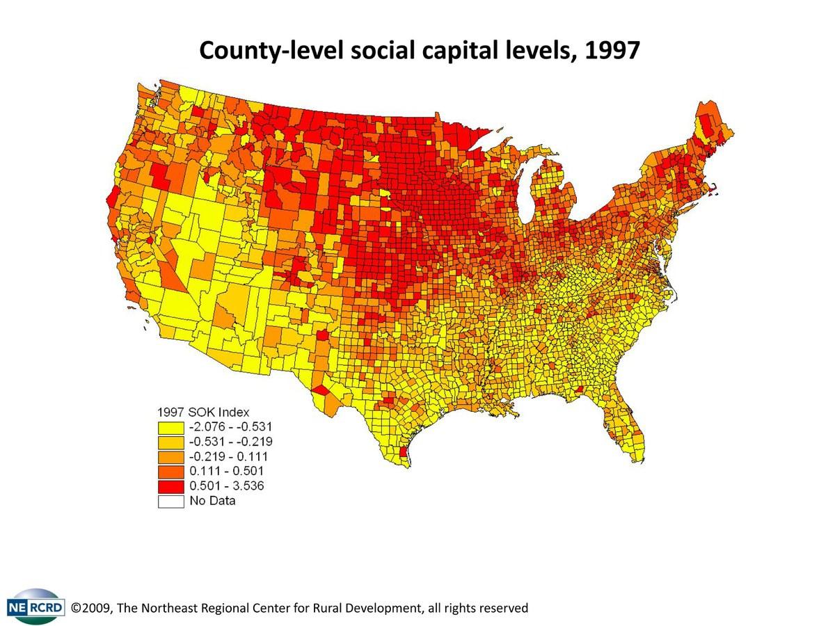 1997 Social Capital Map