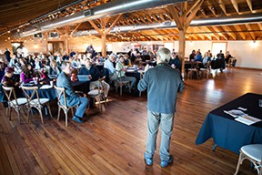 Bob Ratcliffe, US National Park Service, addresses the 80+ person audience. Image credit: Trav Williams, Broken Banjo Photography.