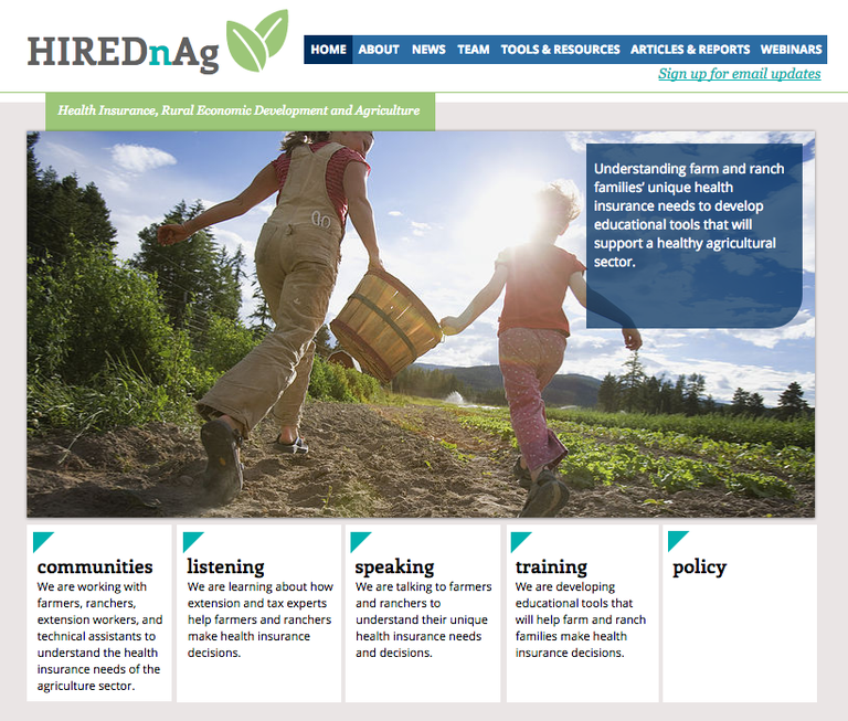 To learn more about health insurance and the farming community, visit the HIREDnAg website: hirednag.net