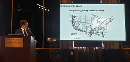 Northeast Center Director Stephan Goetz delivered the 2019 presidential address at the NARSC conference.