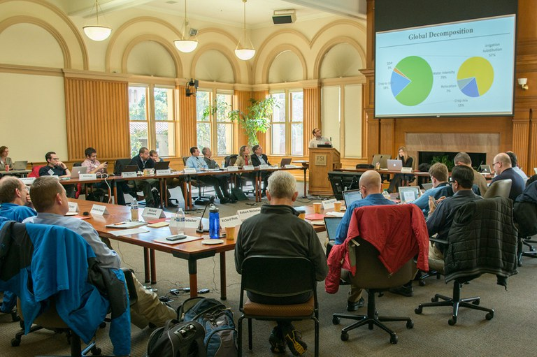 Participants from multiple universities, including Penn State, attend the kickoff meeting at Stanford University to discuss the $20 million, five-year project with the U.S. Department of Energy.