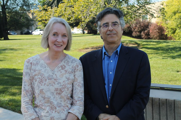 Penn State professor of intergenerational programs and aging Matthew Kaplan, right, and Louise Chawla, a University of Colorado Boulder professor emerita in environmental design, participated in a Sept. 24 panel with Schreyer Scholars to discuss climate change issues.