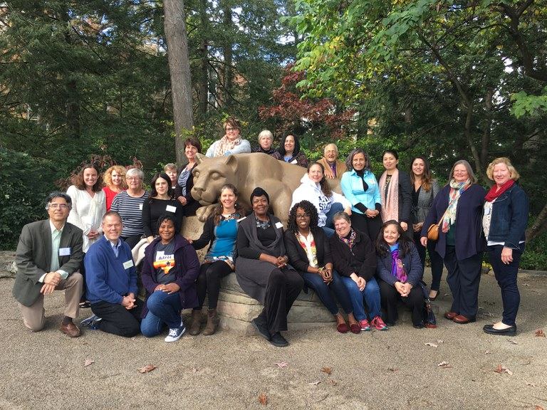 "Group photo of participants of the first ""Establishing an ILI Chapter in Your Locality"" workshop (Oct. 25-26, 2017, Penn State University - University Park)"